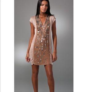 Nanette Lepore Mosiac Embellished Dress SZ 8 D125